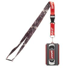 FRIDAY THE 13TH JASON VHS VIDEO CASSETTE LANYARD RUBBER BADGE ID HOLDER KEYCHAIN