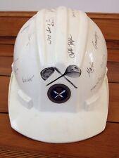US Army Intelligence Security Command Golf Bullard Hard Hat Helmet Signed