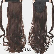 Postiche queue de cheval 24 Pouces Extensions de cheveux ondulé 100% synthétique
