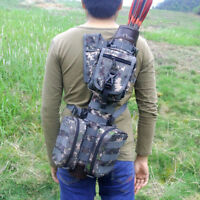 Whole Leather Arrow Quiver W/Molle System Bags F Recurve/Compound bow