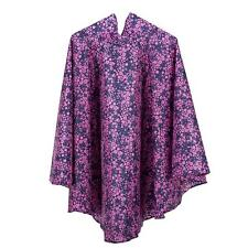 Totes Waterproof Poncho Reading Festival Navy Ditsy Floral Print With Bag