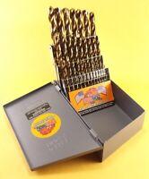 Drill Hog® 29 Pc Cobalt Drill Index Set Bit HSSCO Drills M42 Lifetime Warranty