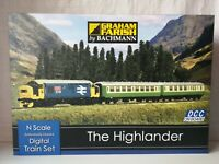 "Graham Farish by Bachmann "" The Highlander"" Digital Train Set 370-048 new, neuf"