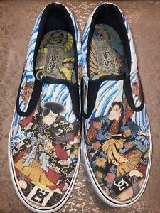 DC SHOES x Atmos x Three Tides Tattoo Slip On Loafer Tokyo Samurai Japan USA 8