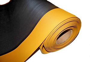 "4' Width 1/8"" thick Invigorator Plate Runners Matting Yellow Border Choose Size"