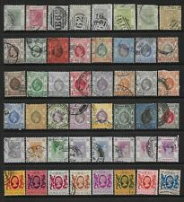 2 scans-Collection of good used Hong Kong stamps.