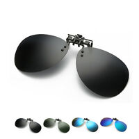 Mens Polarized Mirrored Driving UV400 Myopia Sunglasses Clip-on Flip-up Eyewear