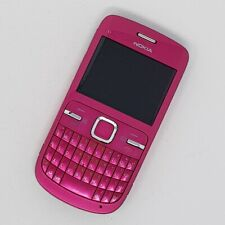 "Nokia C3-00 2G 2.4"" - Pink QWERTY FM radio, RDS - Working Condition - Unlocked"