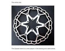 Disques de freinage de vélo blanc