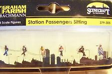 N scale Scenecraft Seated Passenger / Sitting Station Figures # 305