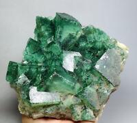 5.65lb Transparent Green phantom Cube Fluorite Crystal cluster Mineral Specimen