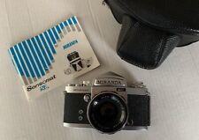 MIRANDA Sensomat RE w/ 50mm f1.8 AUTO MIRANDA Lens and Leather Case  EXC