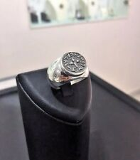 Jewelry Stunning Women Ring Size 8 New Sterling Silver Half Shekel Coin Judaica