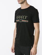 New Gucci Washed Logo Tee Shirt - Black - Large