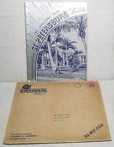 1938 St. Petersburg Florida promotional booklet with envelope