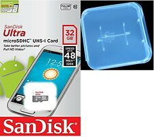 SanDisk 32GB microSDHC SD Ultra 48MB/s Class 10 32G microSD SDSQUNB-032G + Case