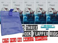 3 Hook Flapper Rigs And Free Sea Fishing Rig Wallet sea rig wallet