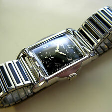 Vintage 1959 Bulova Men's Watch - 11 AF - Cool Band - Black Dial