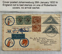 1933 Johannesburg South Africa Early Airmail Cover To London England