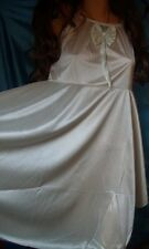 Glamouröses Sissy Glanz Satin Negligee Babydoll M/L ivory Pin Up Negligee (K346)
