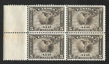 Canada  # C 2 margin block of 4 OG MNH Scott 2010 Cat Val $560.00+ as 4 singles