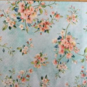 PAPER NAPKINS / SERVIETTES PACK OF 20 BLOSSOM DESIGNS 3PLY