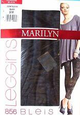LEGGING LONG S/M jersey coton stretch noir gris Bleis MARILYN femme NEUF