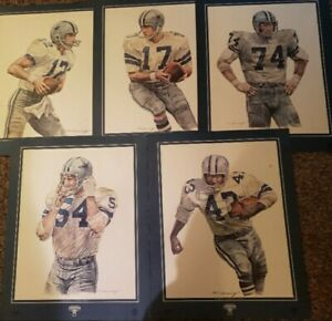 Roger Staubach1984 Bob Lilly Meredith Renfro Pizza Hut/Dr. Pepper 16x20 Lot of 5