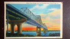 Baton Rouge Bridge, Over the Mississippi River, Baton Rouge, LA - 1947, Linen