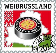 PIN + DEB + Eishockey WM 2014 + Weißrussland + Motiv #2 + Briefmarke + NEU +