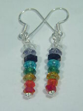 BUTW Chakra beads sterling silver hook earrings 5825B