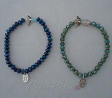 Angel Bracelet Set Stretchy Blue and Green Women's Bracelet  RipsyRipsy