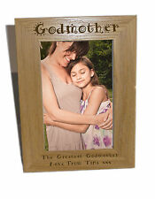 Godmother Wooden Photo Frame 4x6 - Personalise This Frame - Free Engraving