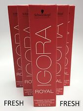 NEW Schwarzkopf IGORA ROYAL Permanent Color Creme hair color 2.1 oz - YOU CHOOSE