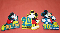 LOT OF 3 = WALT DISNEY 90 YEARS OF MICKEY MOUSE LASERCUT SOFT  PVC MAGNET