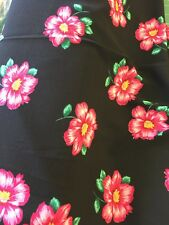 Pink Floral  pattern fabric Viscose Polyester By The Metre