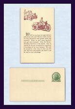 HARLEY DAVIDSON MOTORCYCLE ADVERTISING POSTCARD SERVI-CAR TRICYCLE CIRCA 1932