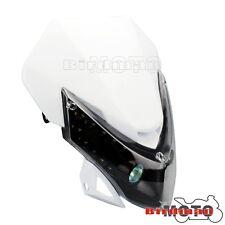 White Motorcycle LED Headlight Headlamp Fairing Kit For Street Bike Dirtbike New