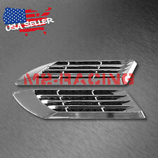 Universal ABS Chrome Air Fender Grill Body Side Vents Car SUV Decal Decoration