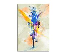 90x60cm PAUL SINUS Splash Art Gemälde Kunstbild Radsport_VI Mehrfarbig