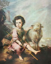 Jesus and the lamb..Young Jesus poster/print 16x20 inch