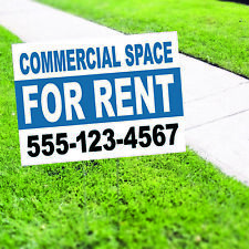 Commercial Space For Rent Plastic Novelty Indoor Outdoor Coroplast Yard Sign