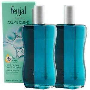 Fenjal Crème Huile de Bain -classic- 2 x 200 ML Avec Classique Fenjal Parfum Top