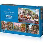 GIBSONS PARIS & VENISE 4 x PUZZLE 500 PIÈCES