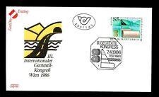 Austria 1986 geotextile Congresso FDC #C 3226