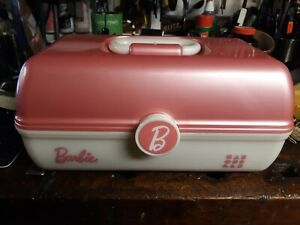BARBIE CABOODLE MAKE UP CADDY PINK / PEARL EXCELLENT CONDITION FREE SHIPPING