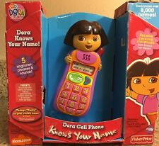 Fisher Price DORA The Explorer CELL PHONE Knows Your Name 5 Tones & Phrases