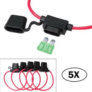 5 x12V KFZ Automatiksicherungshalter Sicherung Halter Automat MAX 30A für PKW DE