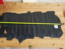Black Calf Sides Italian Leather 0.8mm Thick Beautiful Top Quality Genuine EB36