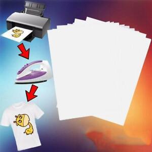 10X  T-Shirt Print Iron-on Heat Press Light/Dark Fabrics Inkjet Transfer Paper